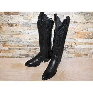 トニーラマ(Tony Lama)の最高級品 トニーラマ TonyLama ウエスタンブーツ 黒 22,5cm 6M(ブーツ)