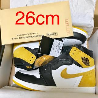 NIKE - 【26cm】NIKE AIR JORDAN 1 RETRO HIGH OG 黄色