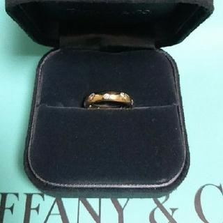 Tiffany & Co. - ティファニー K18 ダイヤモンド ドッツ リング