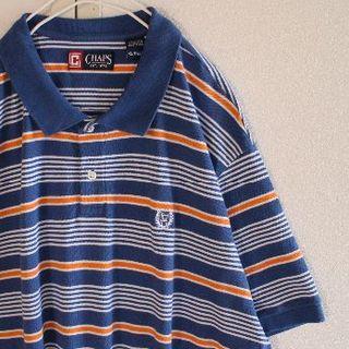 チャップス(CHAPS)のUS チャップス C1 ラルフローレン ボーダー 半袖 ポロシャツ XXL(ポロシャツ)