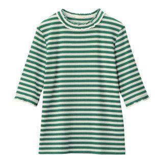 ジーユー(GU)のGU  ボーダー トップス(Tシャツ(半袖/袖なし))