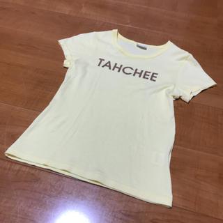 ターチー(TAHCHEE)のレディース  Tシャツ イエロー 半袖 送料込み(Tシャツ(半袖/袖なし))
