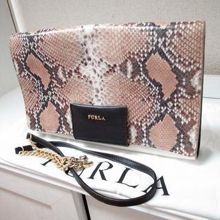 Furla - 正規品♡最安値♡フルラ クラッチバッグ 2wayバッグ パイソン バッグ 財布
