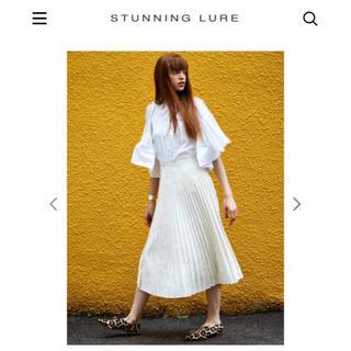 スタニングルアー(STUNNING LURE)のStunning Lure ベロアプリーツスカート(ロングスカート)