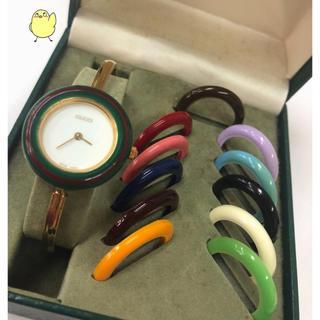 Gucci - GUCCI グッチ チェンジベゼル 時計 12色 箱付き♪