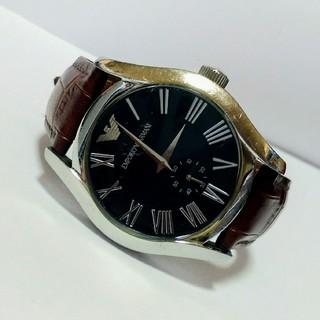 エンポリオアルマーニ(Emporio Armani)のEMPORIO ARMANI クォーツ腕時計 レザーベルト AR0680(腕時計(アナログ))