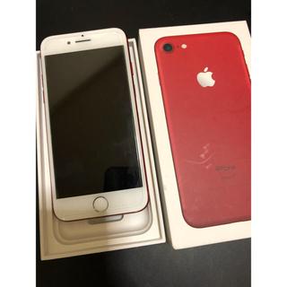アップル(Apple)のiPhone7 Red 128GB au(スマートフォン本体)