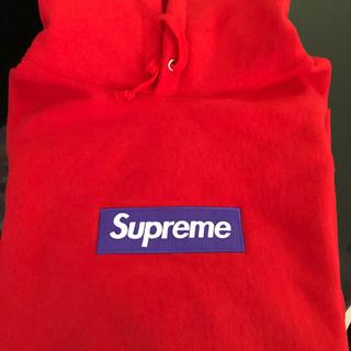 シュプリーム(Supreme)の確実正規品 XLサイズ シュプリーム ボックスロゴパーカー 17fw 赤(パーカー)