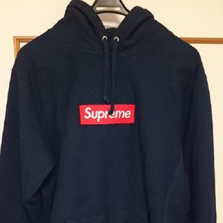 シュプリーム(Supreme)のシュプリーム16awボックスロゴパーカー ネイビー サイズL(パーカー)