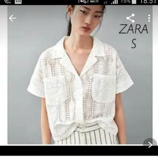 ZARA - 新品 ZARAレースコンビシャツSサイズ