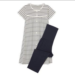 無印良品 新品未使用 授乳に便利な半袖パジャマ ホワイト