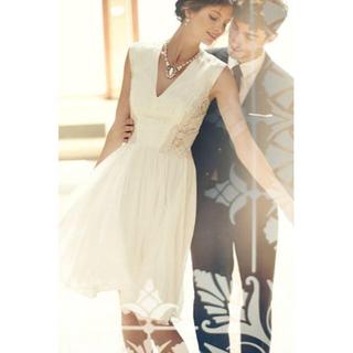 TADASHI SHOJI - タダシショージ Tadashi Shoji ドレス フレアワンピース ホワイト