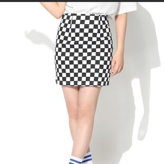SPINNS - チェッカーフラッグスカート