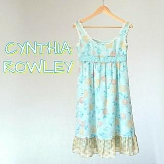 シンシアローリー(Cynthia Rowley)のCYNTHIA ROWLEY シンシアローリー ワンピース ノースリーブ 花柄(ひざ丈ワンピース)