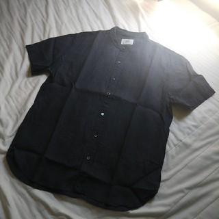 エディフィス(EDIFICE)の417EDIFICE Herdmansリネンファブリック ノーカラーシャツ(シャツ)