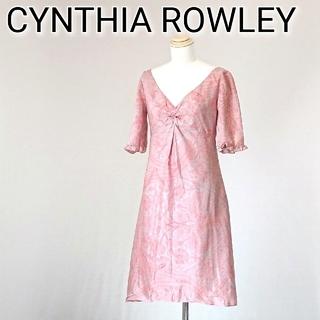シンシアローリー(Cynthia Rowley)のCYNTHIA ROWLEY シンシアローリー ワンピース ペイズリー柄 ピンク(ひざ丈ワンピース)
