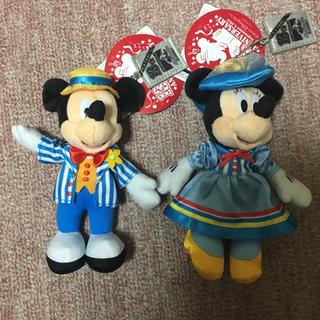 ディズニー(Disney)のDisney ミッキー ミニー 13周年 ぬいぐるみバッジ(ぬいぐるみ)