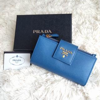 PRADA - 新品!PRADA メタルロゴ サフィアーノ 2つ折り 長財布
