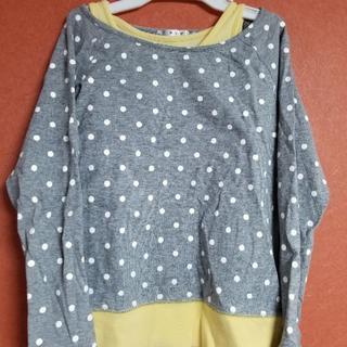 アーヴェヴェ(a.v.v)のシャツ 長袖 タンクトップ セット アーヴェヴェ 130cm KG-K480(Tシャツ/カットソー)