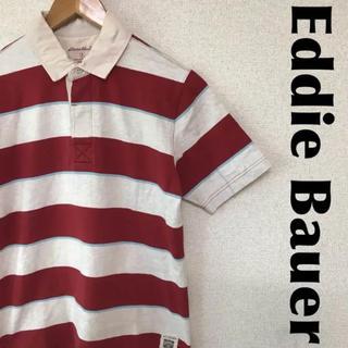 エディーバウアー(Eddie Bauer)のEddie Bauer エディーバウアー ラガーシャツ 半袖 ボーダー 0713(ポロシャツ)