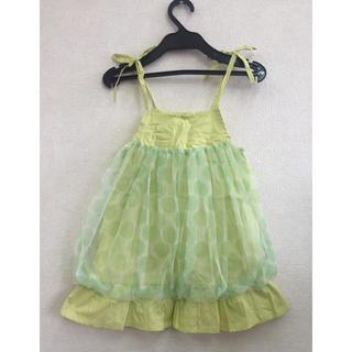 baby ワンピース 赤ちゃん 子供服 ドレス グリーン 緑 レース シースルー(ワンピース)