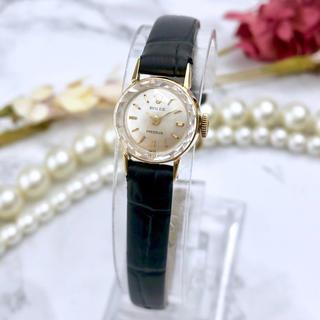 ROLEX - 超美品 OH済み ロレックス 18金無垢 カットガラス ヴィンテージ 腕時計