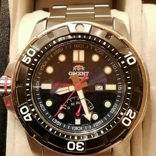 オリエント(ORIENT)のオリエントM-FORCE  パワーリザーブインジケータ付き機械式腕時計(腕時計(アナログ))