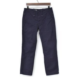 エンジニアードガーメンツ(Engineered Garments)の美品 EMPIRE&SONS ブリティッシュ ファティーグパンツ ネイビー 31(ワークパンツ/カーゴパンツ)