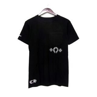 クロムハーツ(Chrome Hearts)のクロムハーツCHROME HEARTS■レーベルプリント胸ポケットTシャツ(Tシャツ/カットソー(半袖/袖なし))
