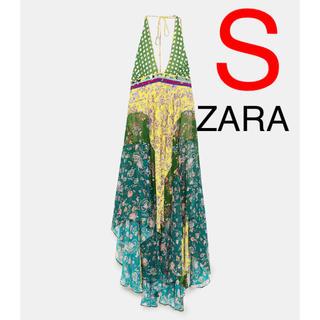 ザラ(ZARA)のZARA  パッチワーク 花柄 ワンピース(ロングワンピース/マキシワンピース)