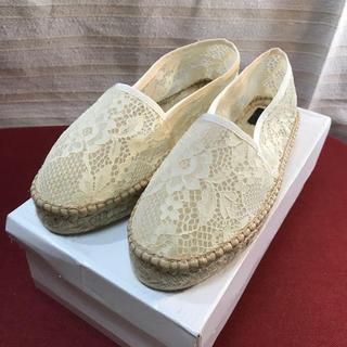 トゥモローランド(TOMORROWLAND)の未使用 MAISON N.H PARIS レース 靴 正規品(スリッポン/モカシン)