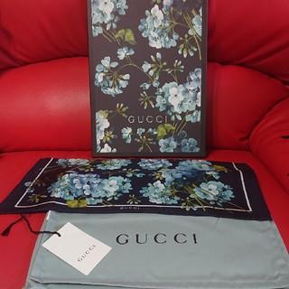 Gucci - GUCCI グッチ 新品 本物 ブルームス スカーフ ハンカチーフ