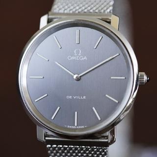 オメガ(OMEGA)の美品 オメガ デビル グレー シルバー 手巻き メンズ Omega(腕時計(アナログ))