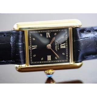 Cartier - 美品 カルティエ マスト タンク ブラック SM Cartier