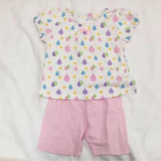 アカチャンホンポ(アカチャンホンポ)の女の子 半袖 パジャマ 80cm パンツ2本セット(パジャマ)