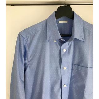 ジーユー(GU)のGU 長袖 ドット シャツ 水色(シャツ)