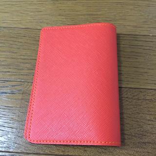 手帳カバー(オレンジ色)(パスケース/IDカードホルダー)