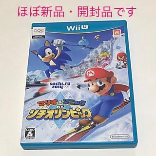 ウィーユー(Wii U)の【 新品同様・開封品 】 マリオ&ソニック AT ソチオリンピック Wii U(家庭用ゲームソフト)