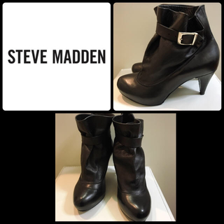 スティーブマデン(Steve Madden)のスティーブマデン♡ブラックレザー ブーティ♡(ブーツ)