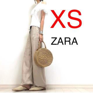 ZARA - 新品 ZARA リボン付きリネンパンツ リネンパンツ リネン パンツ