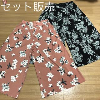 シマムラ(しまむら)のワイドパンツ ガウチョパンツ 七分丈 セット(カジュアルパンツ)