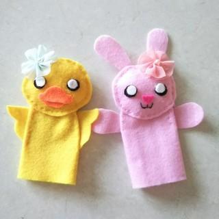 ハンドメイド 指人形 セット(おもちゃ/雑貨)