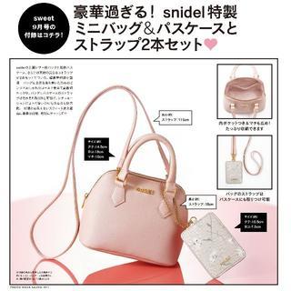 snidel - sweet 2016年 9月 付録 snidel ミニバッグ&パスケース