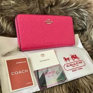 COACH - ★新品★コーチ COACH シグネチャー ピンク 長財布☆