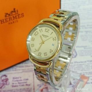 Hermes - 美品 HERMES エルメス プルマン コンビ レディースモデル 腕時計