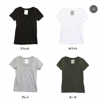 ジーユー(GU)の切りっぱなし無地Tシャツ《グレー》(Tシャツ(半袖/袖なし))