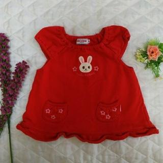 ミキハウス(mikihouse)のミキハウス 赤色 ワンピース 80センチ(ワンピース)