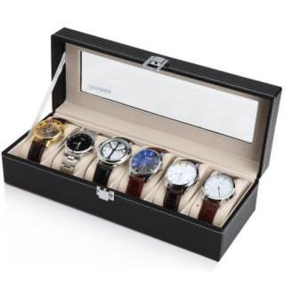 大好評☆腕時計収納ケース 収納ボックス コレクションケース 6本用 高級(その他)
