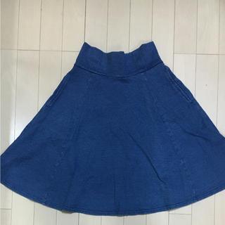ヘザー(heather)のヘザー  デニムAラインスカート (ひざ丈スカート)