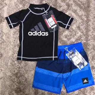 アディダス(adidas)の✨120cm 上下セット 新品 adidas サーフパンツ & ラッシュガード(水着)